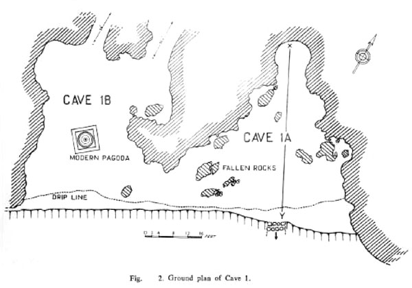 FIG (2) GROUND PLAN OF CAVE (1)